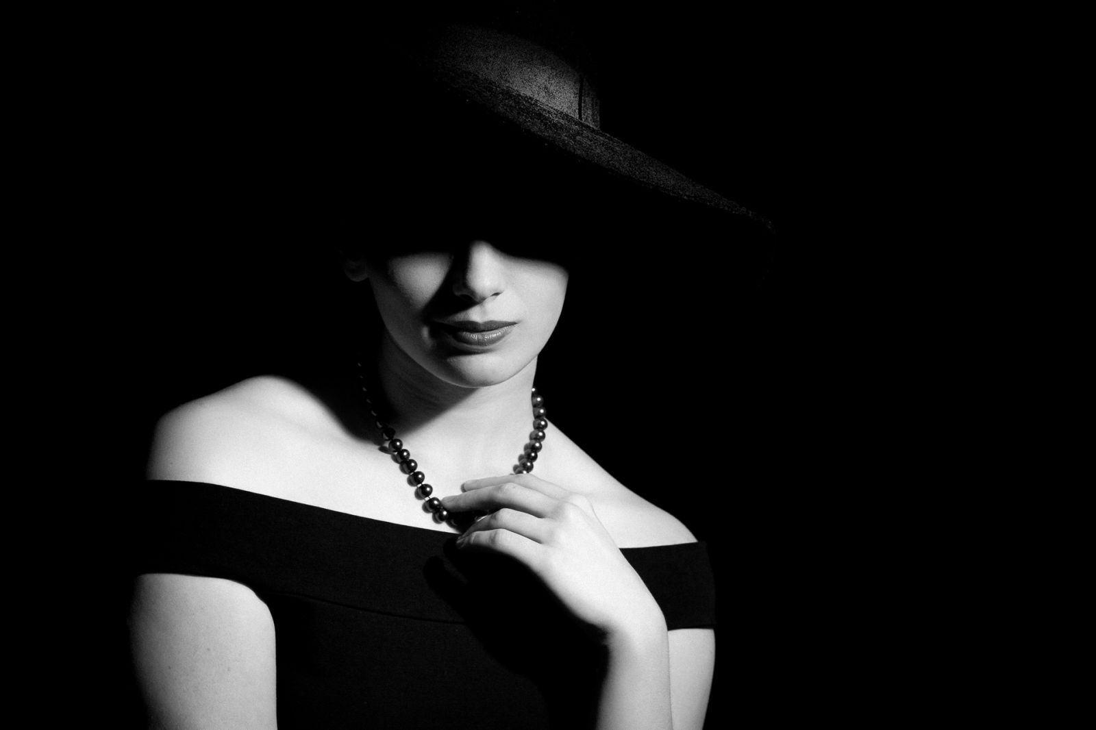 Female Black and White Noir Portrait
