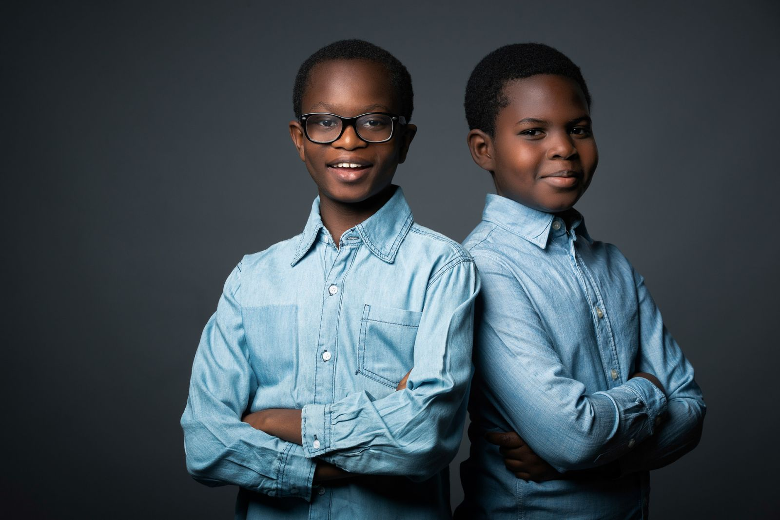 Portrait of two brothers