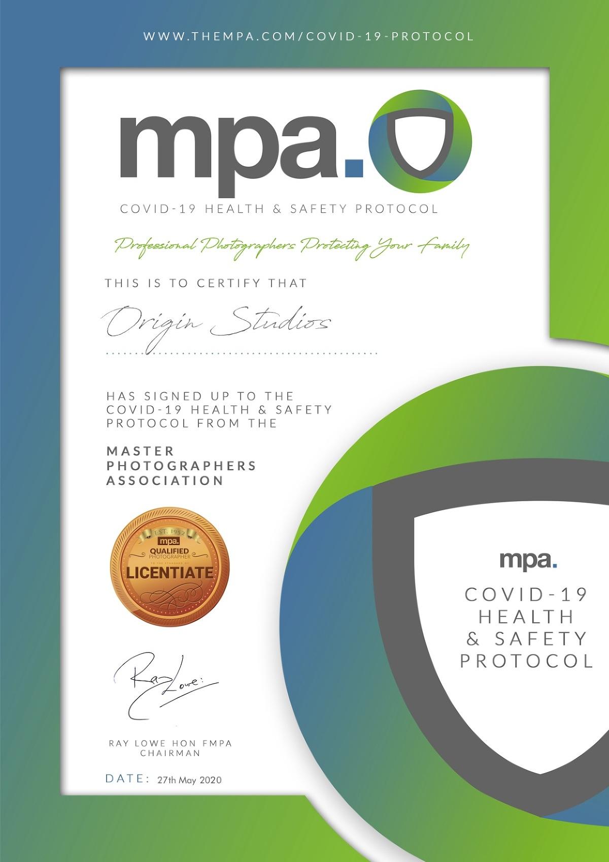 Covid-19 Protocol Certificate